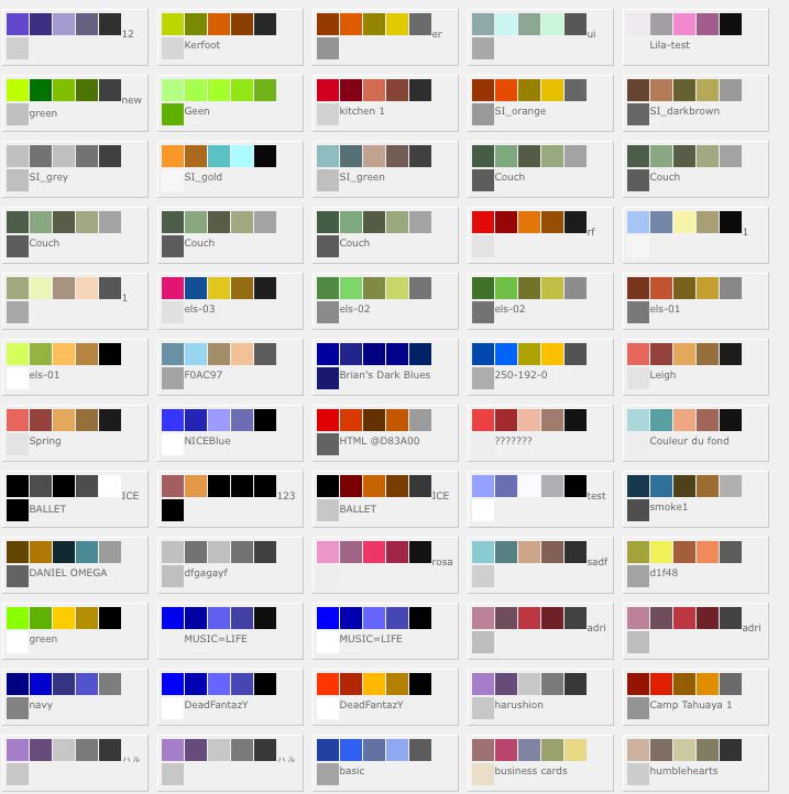 L atelier de la sardine graphisme - Palette de couleur html ...